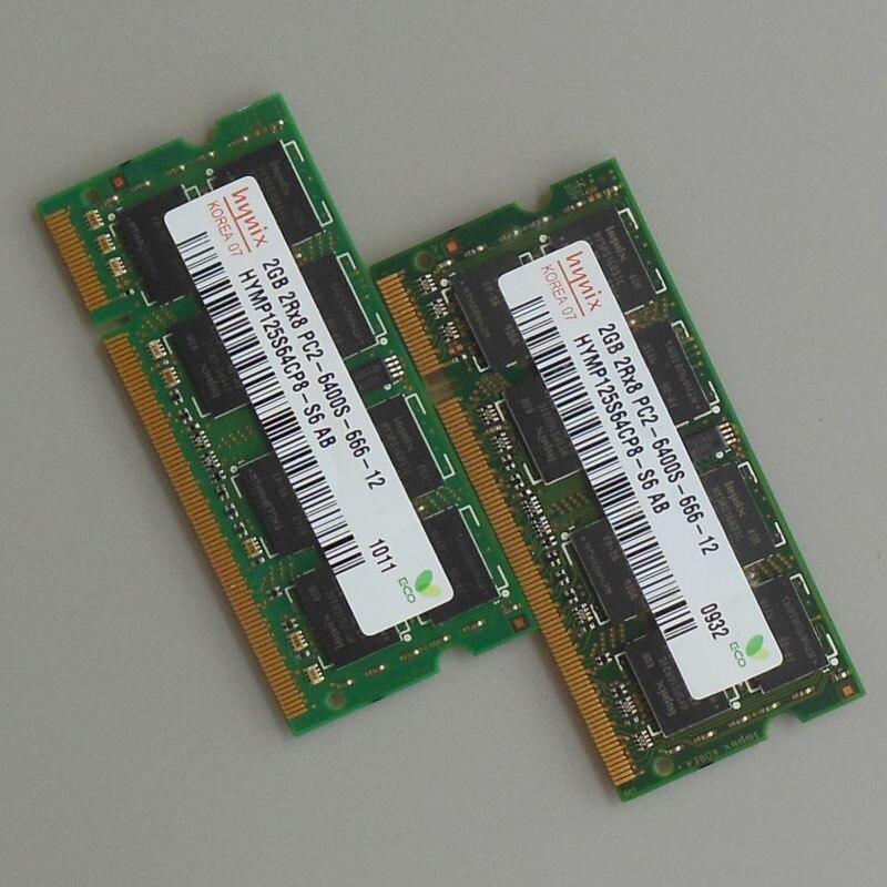 Hynix 4 GB kit 2X2 GB PC2-DDR2-800 Mhz DDR2 2RX8 Laptop Memoria SODIMM RAM Notebook 4 GB Non-Ecc 200 pin Bassa densità