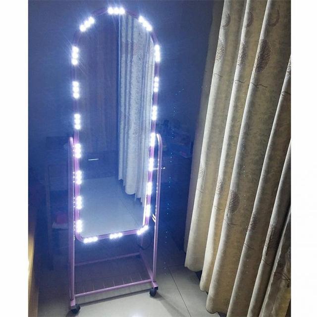 Espejo espejo de maquillaje vanidad espejo con luces led - Espejos con bombillas ...