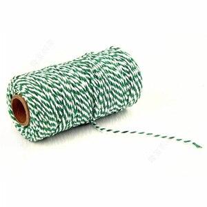 Image 5 - Accesorios de embalaje para regalos, cordones trenzados DIY, decoración de embalaje, embalaje de fiesta de boda, cuerda de algodón de doble Color