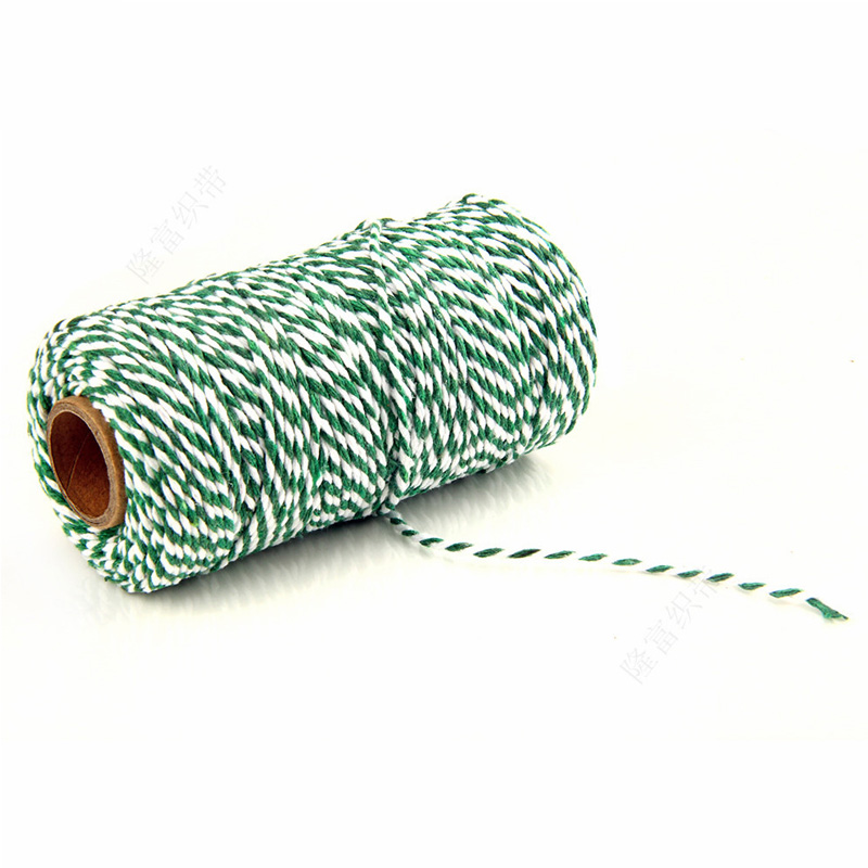 Image 5 - DIY Twisted Cords Gift Packaging Accessories Packing Decoration Wedding Party Packaging Double Color Cotton Baker Twine Rope-in Cords from Home & Garden