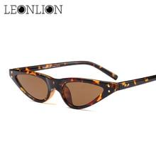 ФОТО leonlion 2018 retro small triangle sunglasses women brand designer classic cat eye vintage eyeglasses lunette de soleil femme