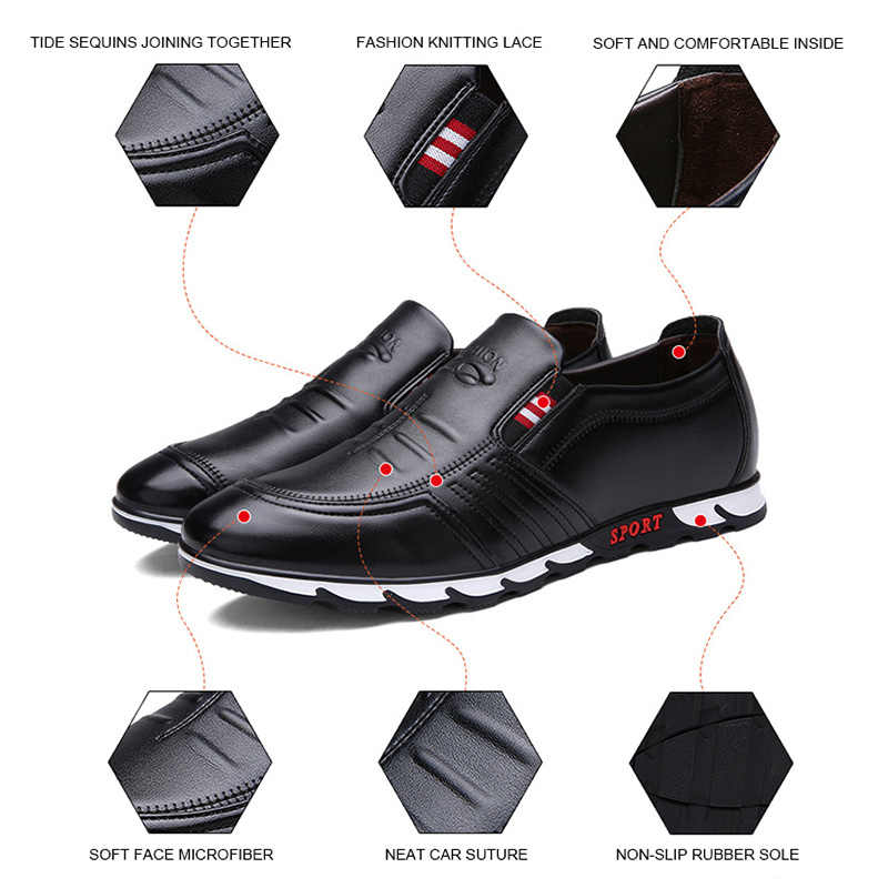 Zapatos de cuero de moda para Hombre Zapatos casuales 2019 nuevos mocasines de Hombre Zapatos de conducción suaves mocasines planos de hombre hechos a mano Chaussure Homme