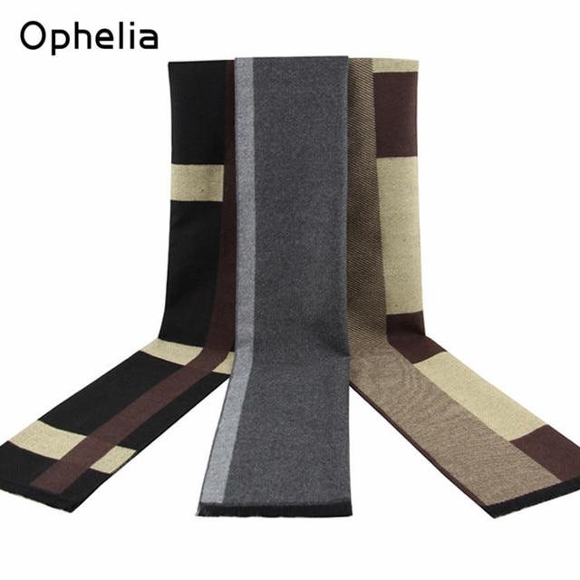 Winter Men scarf brand ACRYLIC Cashmere Scarf Men lattice/grey Scarves for christmas gift Fashion gentleman warm long scarf