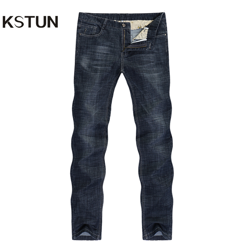 2019 Jeans Men Business Casual Classic Direct Straight Black Ultrathin Soft Breathable Long Trousers Businessman Gentlemen Jeans
