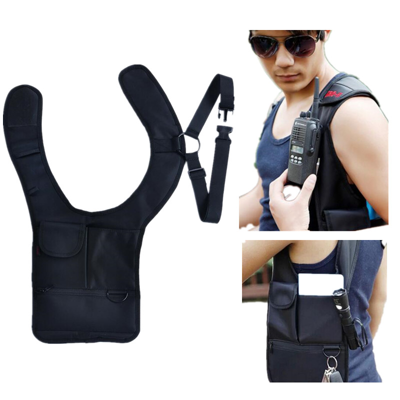 Gadgets Anti-Theft Hidden Underarm Shoulder Bag Holster Black Nylon - Agent Bond 007 Bag Redalex Inspector Storage Bag EA351