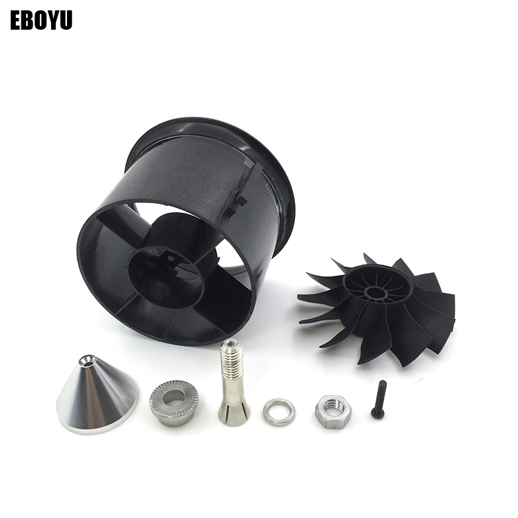 QX-Motor 70mm EDF Duct Housing Fan 12-Blade Prop Propeller Blades Unit Spare Parts for RC Jet Airplane-70mm 3 blades 7016 copper alloy prop partially submerged prop high speed propeller dia a 6 35mm dia b 70mm for 26cc gasoline boat