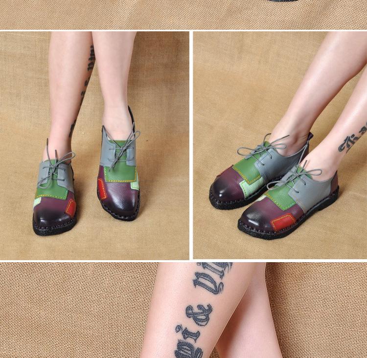 HTB1e0Q RpXXXXXoXpXXq6xXFXXXT - Women's Handmade Genuine Leather Flat Lace Shoes-Women's Handmade Genuine Leather Flat Lace Shoes