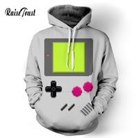 Raise Trust Fashion Men/Women casual hoodies print video game console 3d grey Sweatshirts Street wear sportswear hip hop