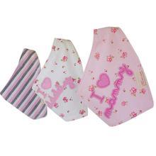 2018 newborn accessories for care drool bib Cute Cotton Baby Towel Triangle Scarf Girls Feeding Smock Bibs Burp Cloths GWF16