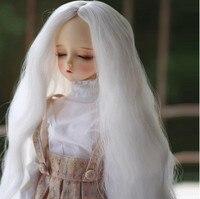Top quality 1/3 1/4 White Long BJD Hair SD Doll Wig BJD SD Hot Sale