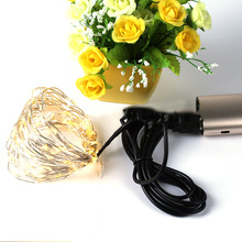 5V USB Operated 33FT 10Meters Christmas Starry Patio Copper Wire Outdoor Led String Lights Wedding Party Decoration With 100 LED