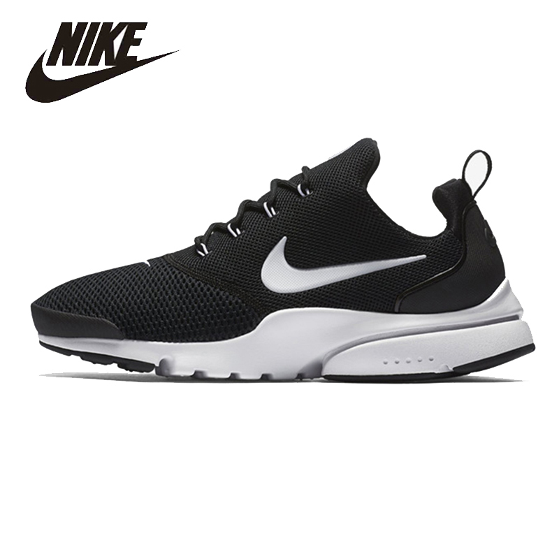 NIKE Original New Arrival Mens PRESTO FLY Running Shoes Mesh Breathable  High Quality Lightweight Outdoor For Men#908019-002 nike original new arrival mens victory c ronaldo short nail training football shoes high quality comfortable for men