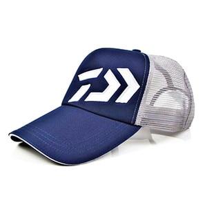 Image 3 - Daiwa Fishing Hat Male Sunshade Sun Visor Daiwa Breathable Fishing Cap Adjustable Hat Around Fishing Hat High Quality Pesca