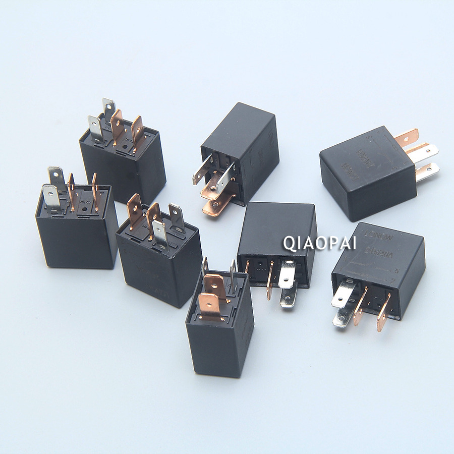 hight resolution of universal automotive violet relay 12v 24v 40a car relay 4 pin 5 pin driving recorder refires power cable small fuse cigarette lighter wire