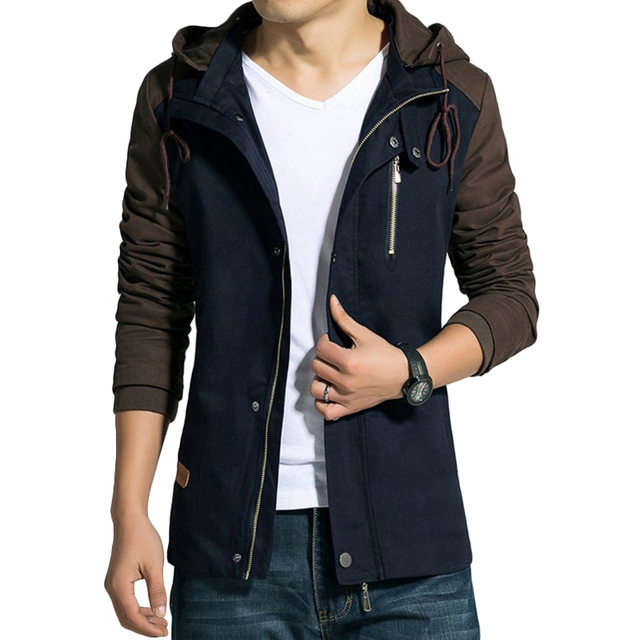 Jacket Men Hooded College  Slim Fit Designer Clothes Casual Outwear Men's Jackets 4XL 5XL windbreaker manteau homme jaqueta Coat