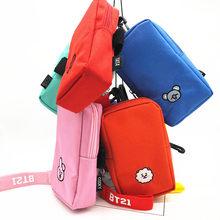 ebede5d39 BTS juguetes de peluche Tata de peluche Kawaii teléfono caso Kpop brazo  hombro bolsa monedero monederos bolso de peluche de HF15.