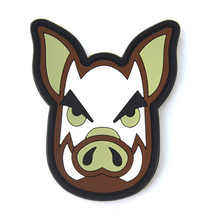 Pig Head Wild Boar Hog Tactical Morale Patch PIG BACKED PVC RUBBER PATCH Airsoft Badge patch