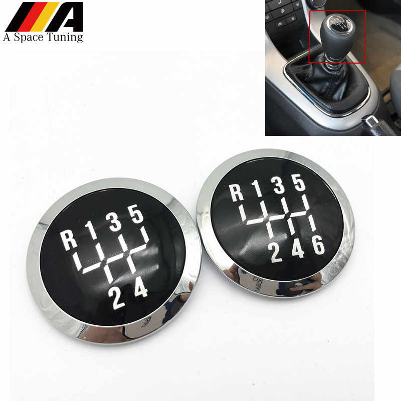 Zwart 5/6 Speed Manual Car Pookknop Cap Emblem Cover Lever Stick Pen Voor Chevrolet Chevy Cruze 2008 2009 2010 2011 2012