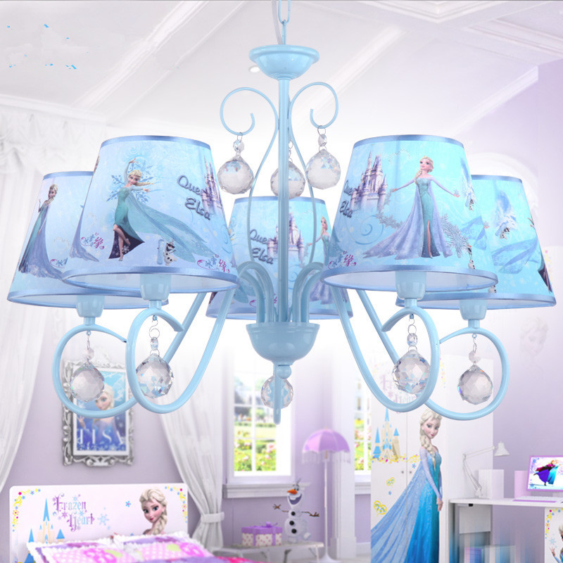 Frozen Cartoon Pendant Lights 5 Heads