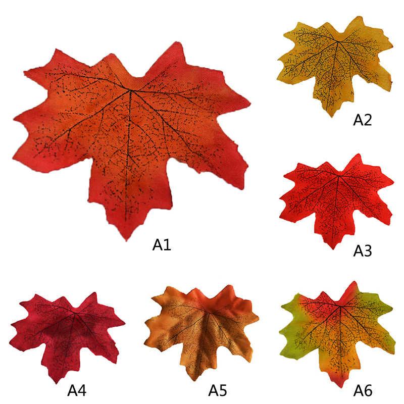 Домашний декор, 100 шт, разные цвета, осень, искусственные кленовые листья для свадеб, мероприятий и декорирования