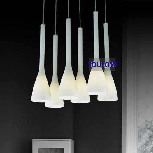 Italian Magnolia Flower Hanging Lamps Modern Glass Pendant Lights - Italian light fixtures