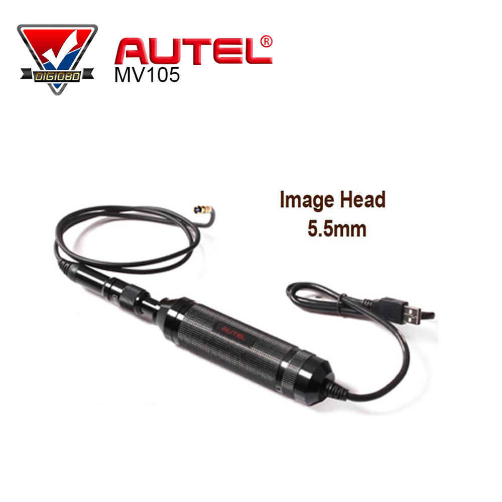 AUTEL MaxiVideo MV105 5.5mm Digital Videoscope Imager for MaxiSys Tablet Kit Car Diagnostic Tool Scanner original autel maxitpms ts501 with obd2 adapters tpms diagnostic