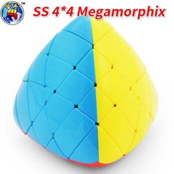 Shengshou Megamorphix 4x4x4 riz boulette sans bâton magique Cube Mastermorphix vitesse Cube Pyramorphix