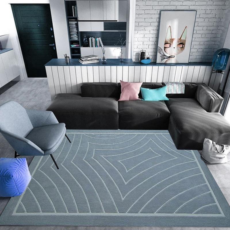 Tapis acryliques et tapis pour la maison salon moderne tapis nordiques chambre d'enfants géométrique tapis de sol chambre étude/salle à manger enfant