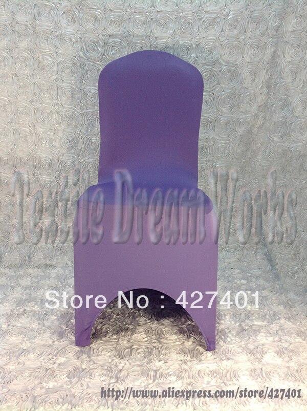 결혼식 훈장을위한 뜨거운 판매 자주색 Lycra 의자 덮개 / 스판덱스 의자 덮개 / 결혼식 의자 덮개 & 당