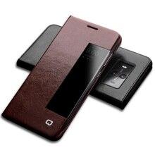 QIALINO Роскошный чехол для телефона из натуральной кожи для Huawei Mate 10 Функция сна Пробуждение Смарт ультратонкая сумка флип чехол для Mate10 pro