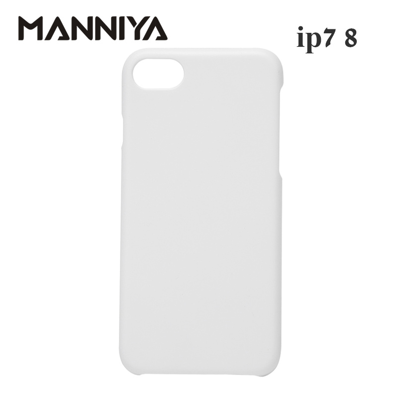 MANNIYA 3D Sublimation Blank white Phone Cases for iphone 7 8 Free Shipping 100pcs lot