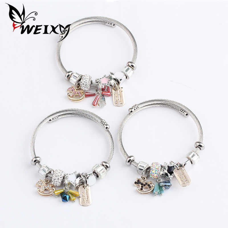 Student Fashion Concise Personality Bracelet Women's Multivariate Element DIY Exquisite Pendeloque Cut Small Ornaments Parts