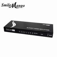 Upgraded MT VIKI 8 Port HDMI Splitter Distributor Video Sharing 1 Input to 8 Output Multiple LCD Monitor Synch Display MT SP108m