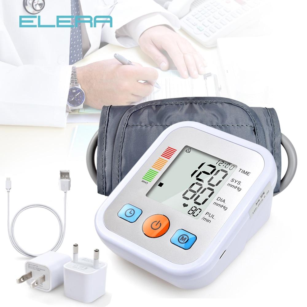 ELERA Home Health Care Blood Pressure Monitor Upper Arm Blood Pressure Meter Sphygmomanometer Tonometer For Measure Tensiometro