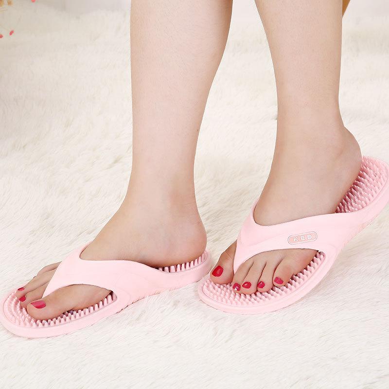 New summer beach ladies flip flops non-slip Indoor Massage Slippers casual wild women's sandals Beach Flip Flops