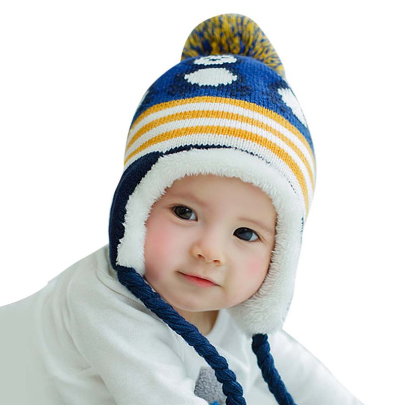 Lovely Keep Warm Caps Cartoon Thick Wool Colorful Hedging ...
