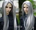 8-9 BJD парик мохер-серебро soom