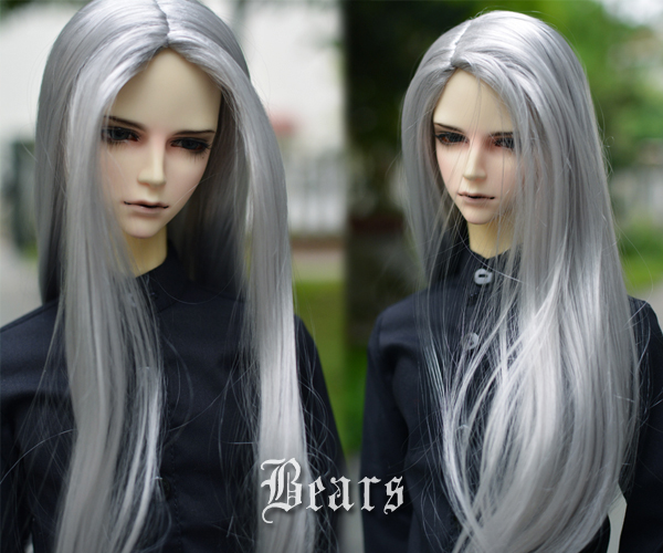 8-9  BJD wig mohair - - silver soom 1 3 1 4 1 6 1 8 1 12 bjd wigs fashion light gray fur wig bjd sd short wig for diy dollfie