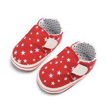 Baby Shoes Baby Girl Shoes Newborn Star Print Canvas Soft Bo