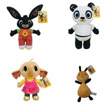 Forest Animal Friends Bing Bunny Toy, Red Bunny Rabbit Bear Panda Fox Elephant Tinger Monkey Stuffed Animals Plush Toy For Girls(China)