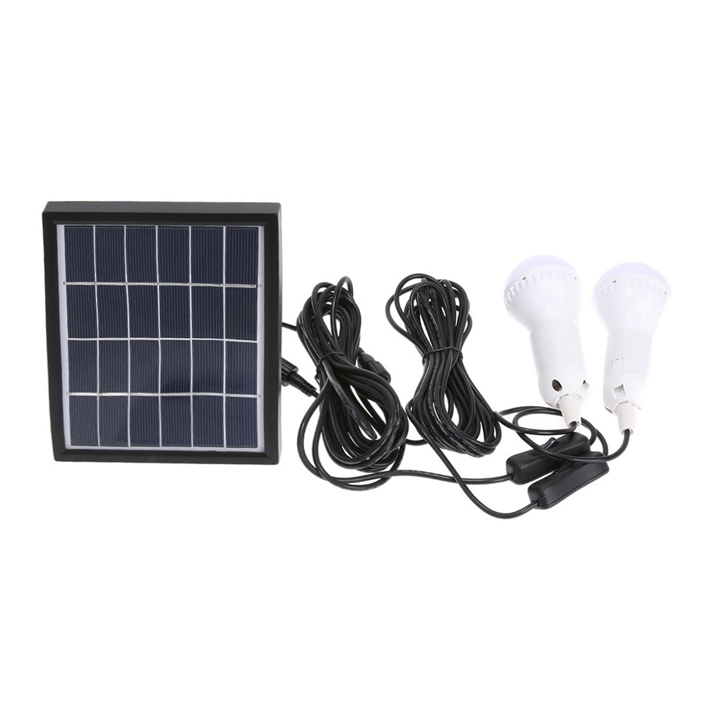 Солнечный Мощность ED светодиодные лампы открытый/закрытый Системы Освещение 2 лампы Солнечная низкого Мощность Отдых на природе света 3 вт 6...