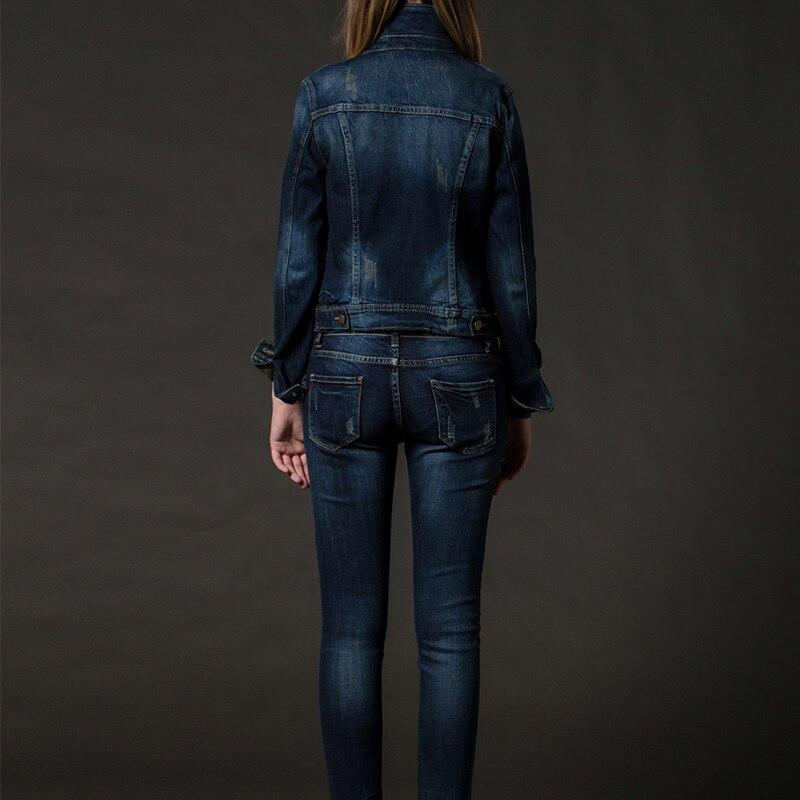 Pants Deux Le two Jeans Femmes Set Pièces Conjunto Casual Vers Piece Effiloché Feminino Coréenne Tenues Ensemble Tournent Manteau jacket Mince Rue Bas Style Denim HHq7xO1