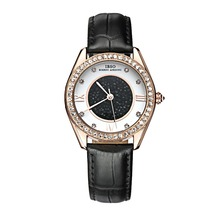 2016 Marca IBSO Relojes de Pulsera Para Hombres Correa de Cuero Genuina Reloj de Japón Movimiento de Cuarzo 30 m Impermeable Completo 8212