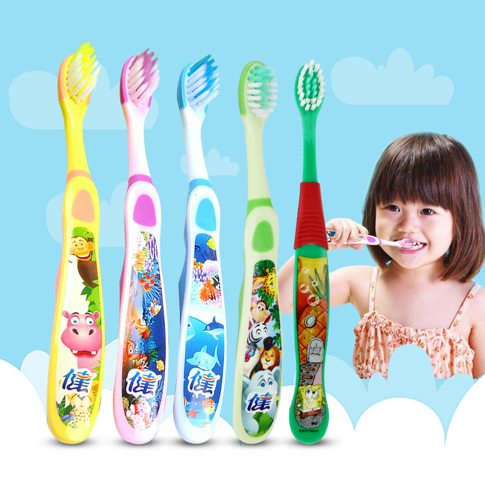 4pc Cute Cartoon Children Toothbrush Baby Child Toothbrushes Dental Brush Teeth Oral Care Kids Soft Tooth Brush image