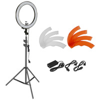 Neewer 18 Inches 55W Dimmable LED Ring Light And Light Stand Lighting Kit For Camera Photo