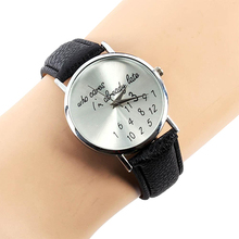 """Hot Sales Popular Various Occasion Women Watch """"Who Cares"""" Faux Leather Band Quartz Day-use Watches NO181 5VAH"""