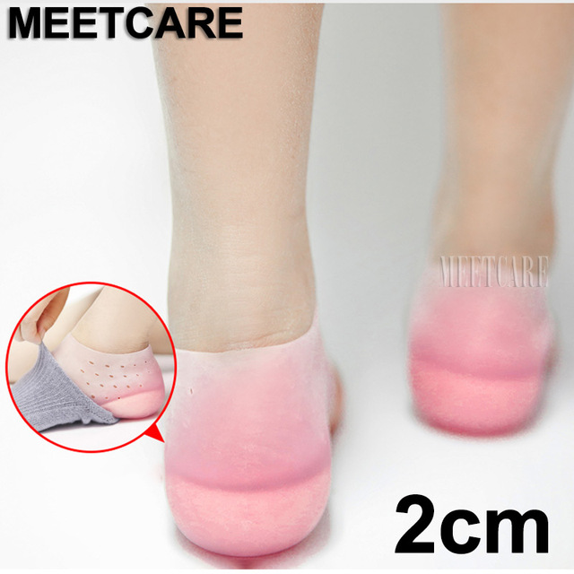 Invisible Height Increase Lift Heel Pad Comfortable Foot Braces 2cm Heightened Gel Insole Dress Socks Relieve Plantar Fasciitis