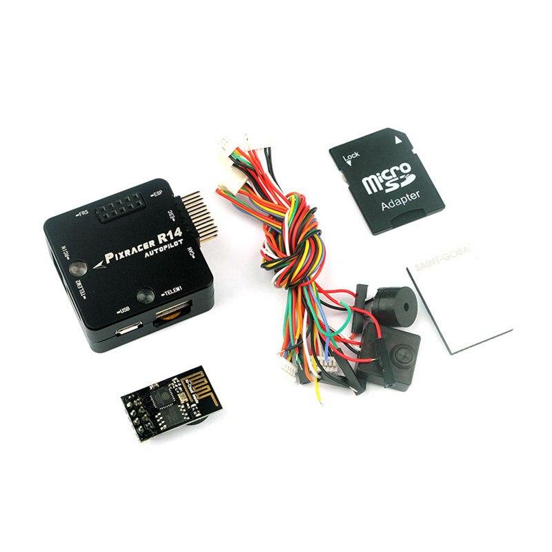 Pixracer R14 F4 contrôleur de vol pour modèles RC Multicopter avec étui de protection ESP8266 Module Wifi Micro carte SD Buzzer