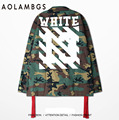 Aolamegs Mens Jacket 2016 Top Version Men Women Camouflage Jackets Shirts Camo Army Military Style Outwear Hiphop White Twill
