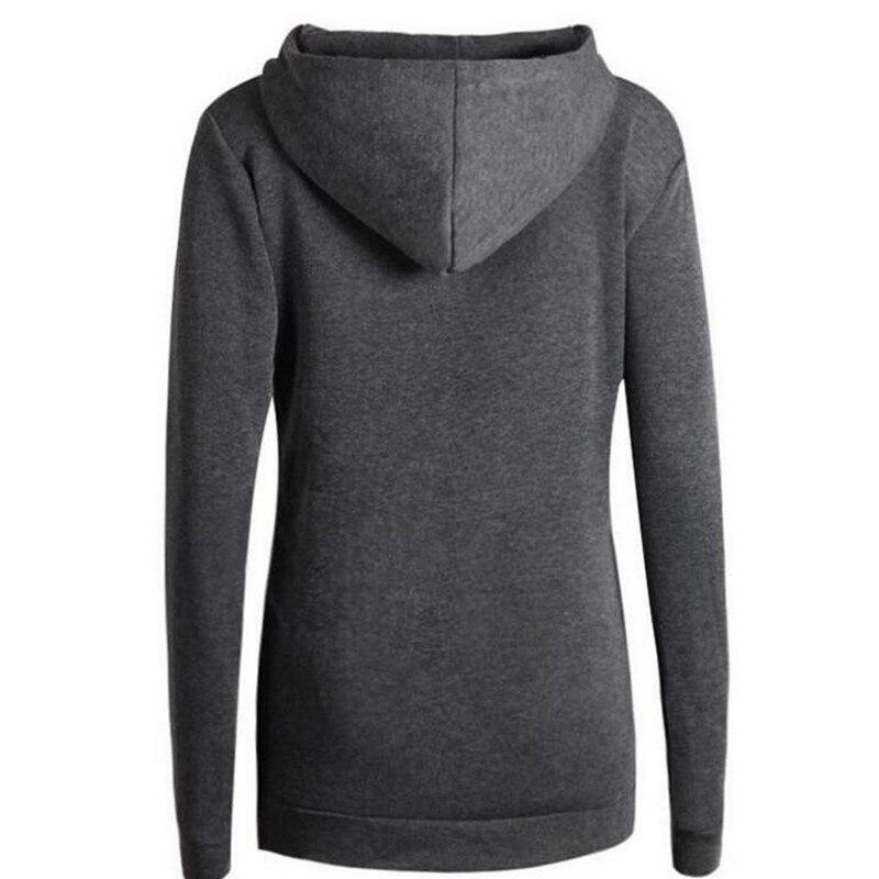 2018 Solid Women Hoodies Sweatshirts Spring Autumn Hoodies Kvinder - Dametøj - Foto 6